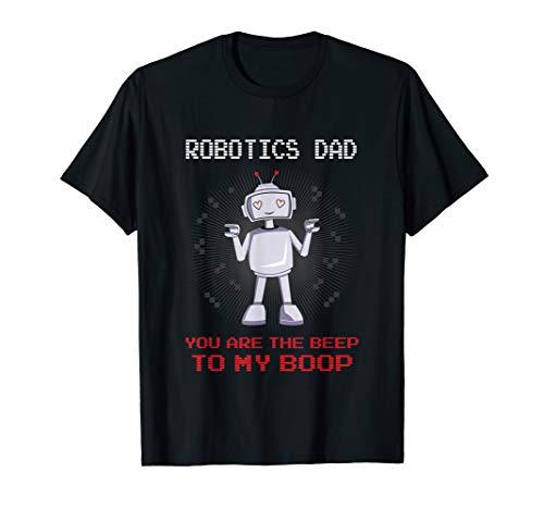 Herren Robotics Dad Shirt Nerd Geek Roboter Papa Vatertag Geschenk T-Shirt