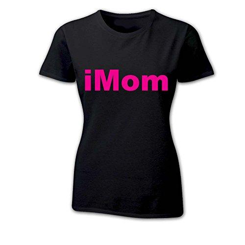 T Shirt Donna Idea Per La Mamma iMom iBaby NERA Fucsia