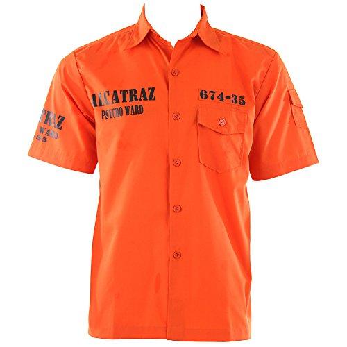 Banned Alcatraz Hemd (Orange) - X-Large