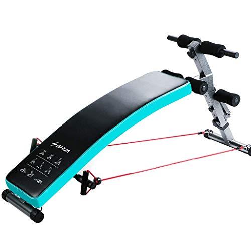 Sit-up board Xinjin Panca inclinata Regolabile, inclinazione Oltre 180 °, Rotazione a 360 °, Allenamento Regolabile Panca Multifunzione da Allenamento Addominale, Design ergonomico