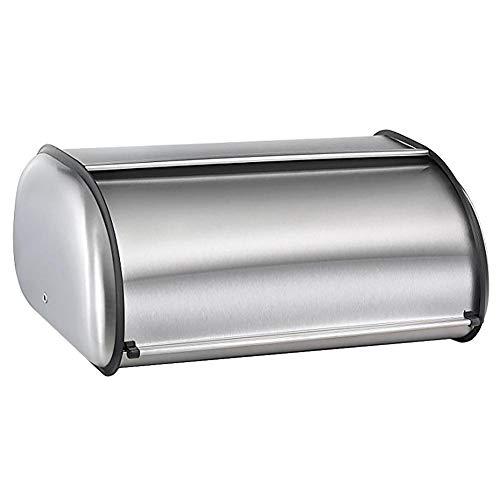 Descripción del productoColor: acero inoxidableDescripción del productoNombre del producto: caja de panColor plataEspecificaciones: 34.5 * 24.5 * 15cmLista: 1 * Paneras