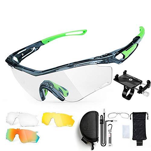 ZHLZH Radsportbrille/Radsportbrille Polarisierte, polarisierte Sportsonnenbrille Driving Sun Glasses Shades für Herren Geben Sie einen soliden Handyhalter,Green