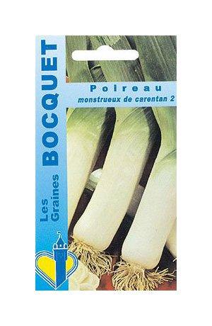 Les Graines Bocquet - Graines De Poireau Monstrueux De Carentan-2 - Graines Potagères À Semer - Sachet De 4Grammes