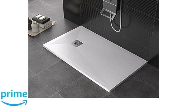Piatto doccia rettangolare quadrato in marmoresina in varie misure