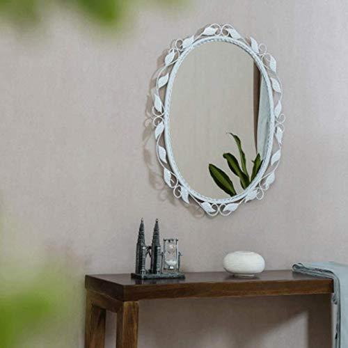 WENYAO Europäische Badezimmerspiegel Schmiedeeiserne Spitze Schlafzimmer Kosmetikspiegel