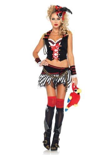 lank Walking Piraten Kostüm, Größe: L, schwarz/weiß (Disney Princess Tutu Kostüme Für Erwachsene)
