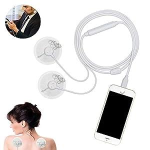 LIJJY Muskel-Stimulator-Schmerzlinderung Massager Für Hals/Schulter/Rücken/Mini Portable Smartphone Angetrieben, Liebevolle Geschenk Für Männer Und Frauen