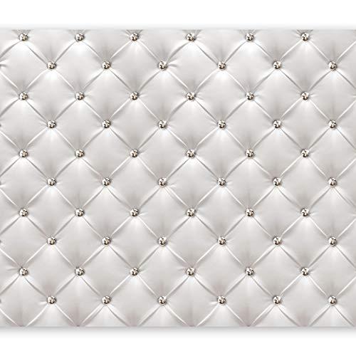 murando - Fototapete 350x256 cm - Vlies Tapete - Moderne Wanddeko - Design Tapete - Wandtapete - Wand Dekoration - Leder weiß modern f-B-0039-a-a
