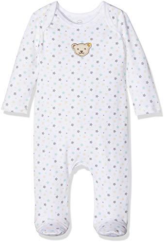 Steiff Unisex Baby Strampler L001912514, Gr. 80, Weiß (Bright White 1000)