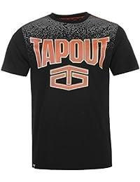 Tapout Herren Gradient T Shirt Kurzarm Rundhals Print Baumwolle Regular Fit