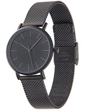 Leslii Premium Watch Edelstahl Meshband Schwarz | moderne Damen-Uhr | elegant modern zeitlos