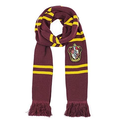 Cinereplicas Harry Potter-Bufanda-Ultra Suave-Edición Deluxe-Licencia Oficial-Casa Gryffindor-190 cm Negro, Rojo Y Amarillo, Talla única