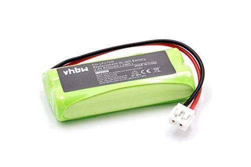 vhbw Batería NiMH 850mAh (2.4V) para Motorola MBP10, MBP10s como Tomy LP175N, Tomy LP175, P71029, P71029B.