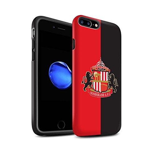 Offiziell Sunderland AFC Hülle / Matte Harten Stoßfest Case für Apple iPhone 7 Plus / Schwarz Muster / SAFC Fußball Crest Kollektion Rot/Schwarz