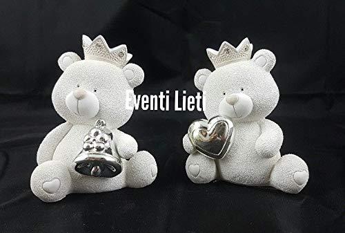 Eventi lieti bomboniera nascita battesimo salvadanaio orsetto ceramica king rb564