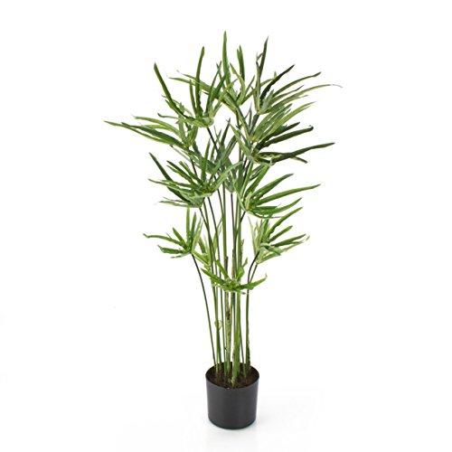 Pianta di papiro decorativa con 16 fronde, 190 foglie, 80 cm - pianta artificiale / cespuglio ornamentale - artplants