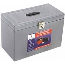 Ablagebox grau H/ängemappenbox aus Metall, Format Foolscap ca. 33 x 43 cm