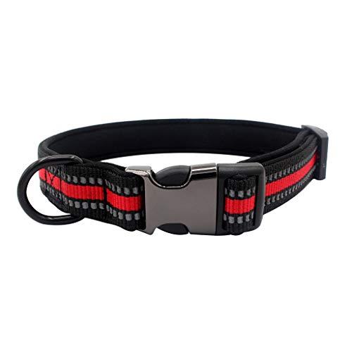 CAOQAO Verstellbarer Kragen - Ideale Größe für Halsketten für Katzen oder kleine Hunde, Schnellverschlussschleife aus reflektierendem Gurtband 3 Farben - S, M, L