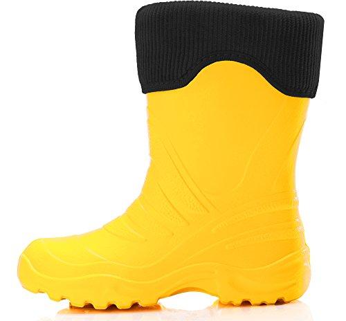 De Termoplástica Crianças Gefã¼ttert Amarelo Borracha Preto 861 Botas Eva Ladeheid Leves La gxxI4qEB