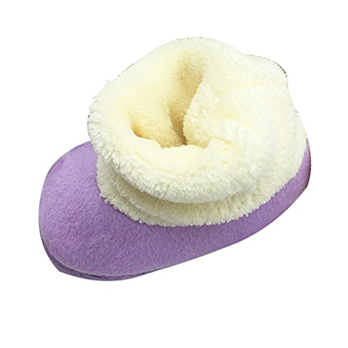 Zhuhaitf Excellent Toddler Soft Boots Keep Warm Crib Shoes Baby Girl Soft Sole Snow Boots purple