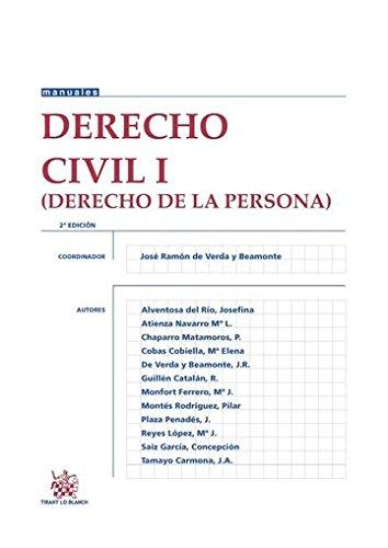 Derecho Civil I (Derecho de la Persona) 2ª Edición 2016 (Manuales de Derecho Civil y Mercantil) por Javier Plaza Penadés