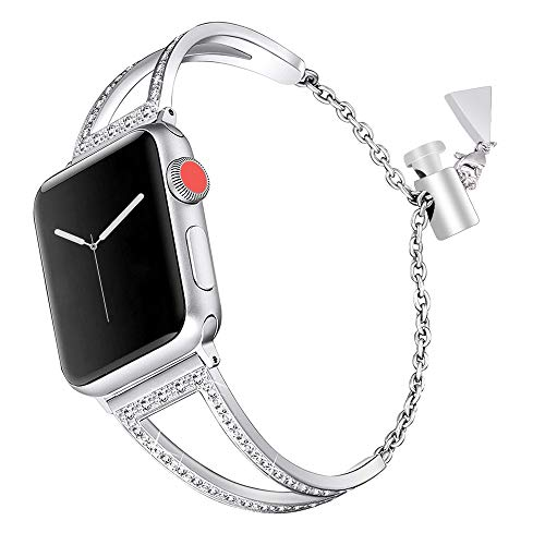 Bracelet Apple Watch 38mm Acier,Bracelet Apple Watch 4 iWatch Series 3 Bracelet Apple Watch 40mm Sport Bande Remplacement de Bracelet Apple Watch Straps Accessories pour Apple Watch Series 4/3/2/1