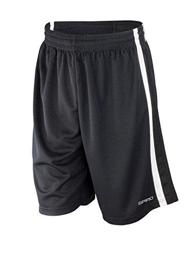 Spiro Herren-Basketball-Shorts, schnelltrocknend XXXX-Large schwarz / weiß