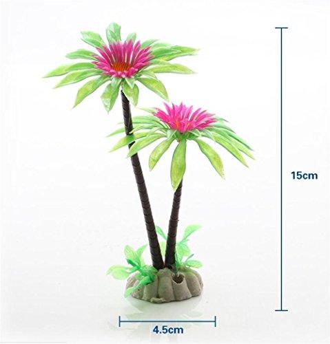 Aquarium-Dekor Mini Baum fior Aquarium Bonsai Fee Garten Landschaft Dekoration (3ST) für Ihr Zuhause von ZFFde (Farbe : As shown, Größe : 4.5 * 15cm)