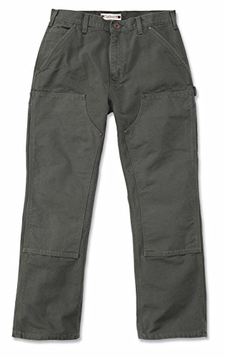 Carhartt. EB136. BLK. S456Washed Duck double-front Work Dungaree, schwarz, W42/L30 moos