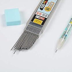 100pcs/Box mina de grafito 2B portaminas Recambio de lápiz de plástico automático 0,5