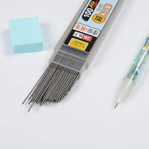 100pcs/Box mina de grafito 2B portaminas Recambio de lápiz de plástico automático 0,7