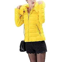 ed5139273df Lauriney Abrigos Abrigo Largo Elegantes Acolchado Tallas Fashion Cremallera  con Invierno Capucha Mujer De Slim Manga