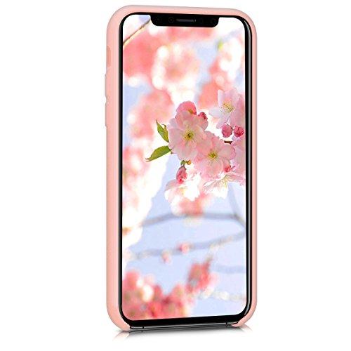 kwmobile Cover per Apple iPhone X - Custodia in silicone TPU - Back case protezione posteriore per cellulare rosso scuro metallizzato .oro rosa