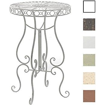 Tavolo Giardino Ferro Bianco.Clp Tavolino Alto Da Giardino Shiva In Ferro H 100 Cm Tavolo
