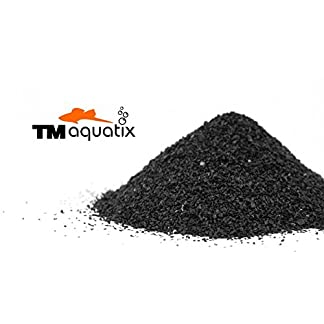 TM Aquatix Aquarium Sand Natural Fish Tank Gravel Plant Substrate (15kg, Black 0,6-1,2mm) 14