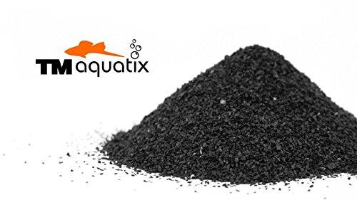 TM Aquatix Aquarium Sand Natural Fish Tank Gravel Plant Substrate (15kg, Black 0,6-1,2mm) 1