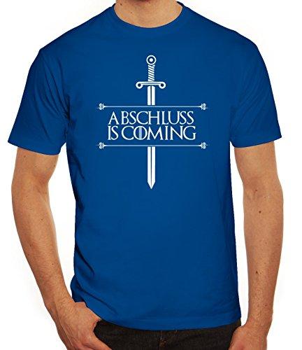 Abschluss Abitur Abi Herren T-Shirt mit Abschluss Is Coming Motiv von ShirtStreet Royal Blau