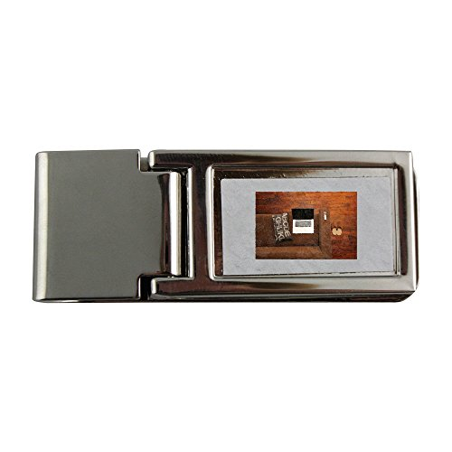 Metal Money Clip with Home Office