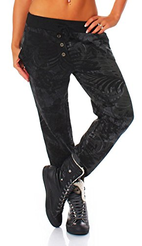 malito Pantaloni Aladin Sbuffo Pantaloni Pump Baggy Yoga Twist 83728 Donna Taglia Unica nero