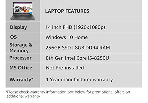 HP Pavilion x360 Core i5 8th gen 14-inch Touchscreen 2-in-1 Thin and Light Laptop (8GB/256GB SSD/Windows 10 Home/Pale Gold/1.67 Kg), 14-CD0081TU