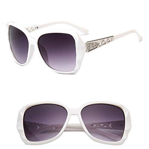 Sport-Sonnenbrillen, Vintage Sonnenbrillen, NEW Vintage Big Frame Sunglasses Women Gradient Lens Driving Sun Glasses UV400 Oculos De Sol Feminino White - Sonnenbrille White Holbrook