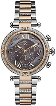 Gc Womens Quartz Watch, Analog Display And Stainless Steel Strap - Y16015L5MF