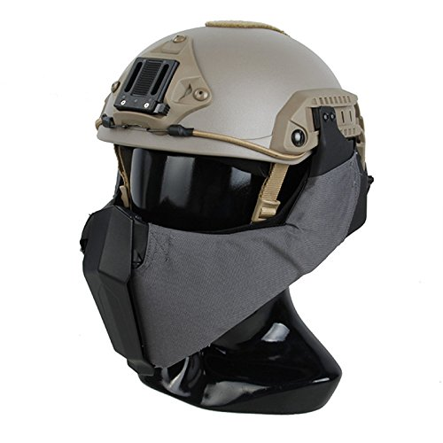 TMC Modular Gunfighter Unterkiefer Maske für Airsoft Paintball MilSim–Wolf ()