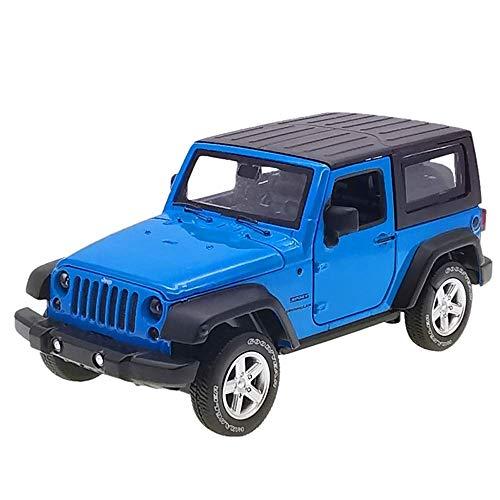 Pkjskh Tirare indietro Toy Art Model SUV for bambini Car Collection simulazione può aprire la porta scala 1:24 Model Car (Color : Blu)