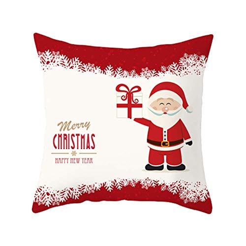 SPECIAL SALE Weihnachtsdeko Kissenhülle weihnachtskissen Gedruckter Weihnachtskissenbezug Cartoon Weihnachten Kissenbezug Weihnachtskissenbezug aus Baumwolle 15
