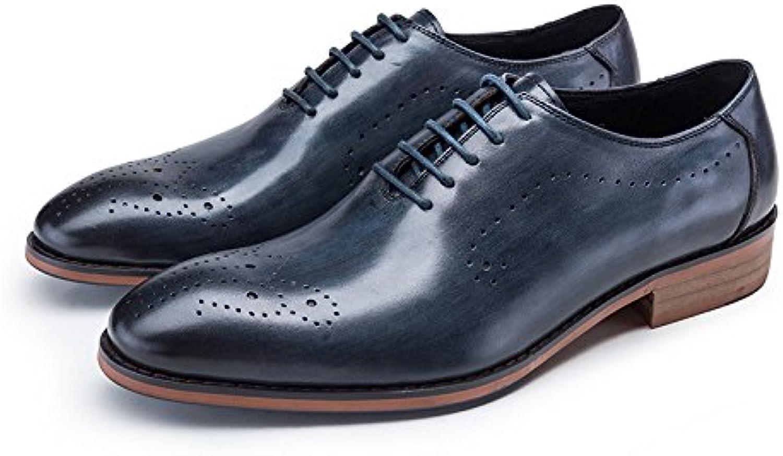 DHFUD British Dress Schuhe Jugend Runden Kopf Herrenschuhe mit Arbeitsschuhen Geschnitzt Atmungsaktive Schuhe