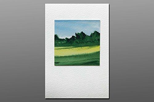 Postkarte + Briefumschlag / Landschaft No5 / Unikat / Aquarellkarte
