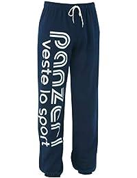 0205bb3429 PANZERI Uni h navy jersey pant - Pantalon de survêtement