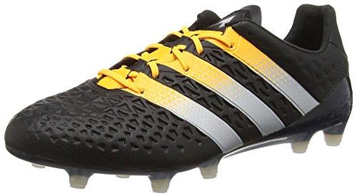 adidas Ace 16.1 Fg/AG, Scarpe da Calcio Uomo, Nero (Core Black/Silver Met./Solar Gold), 40 EU