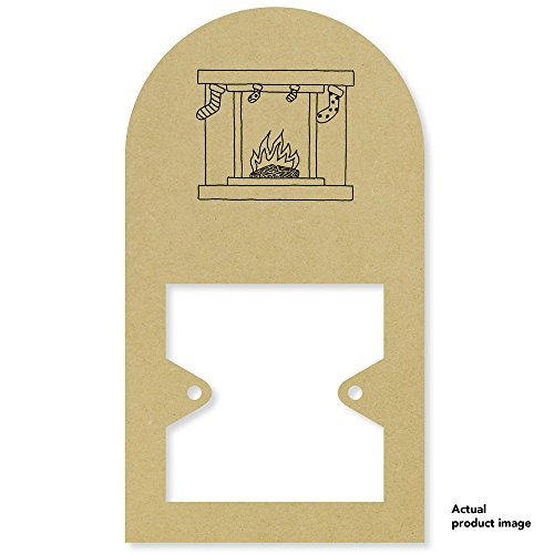 Price comparison product image 'Christmas Fireplace' Tall Light Switch Plate / Surround (LS00001498)